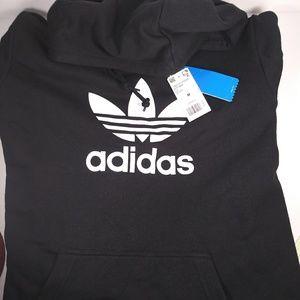 NWT Adidas Trefoil hoodie sz M black white DT796
